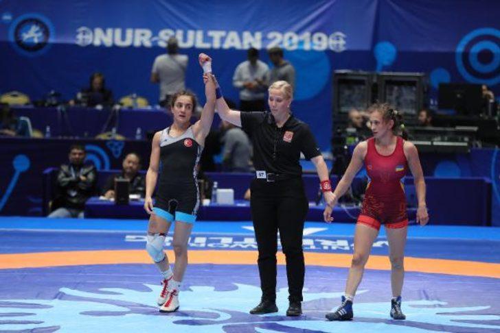 Bediha Gün, Dünya Güreş Şampiyonası'nda yarı finalde