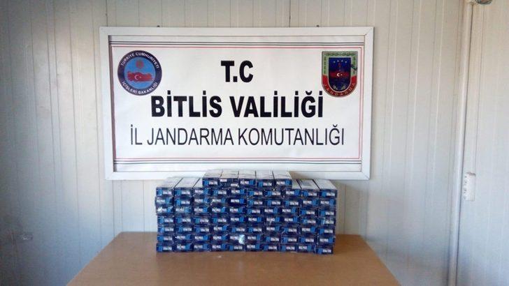 Bitlis'te 3 bin 800 paket kaçak sigara ele geçirildi
