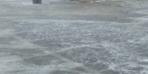 Erzurum'da şaşırtan görüntü! Eylül ayında dolu yağdı