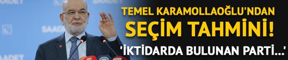 Temel Karamollaoğlu'ndan seçim tahmini! 'İktidarda bulunan parti...'