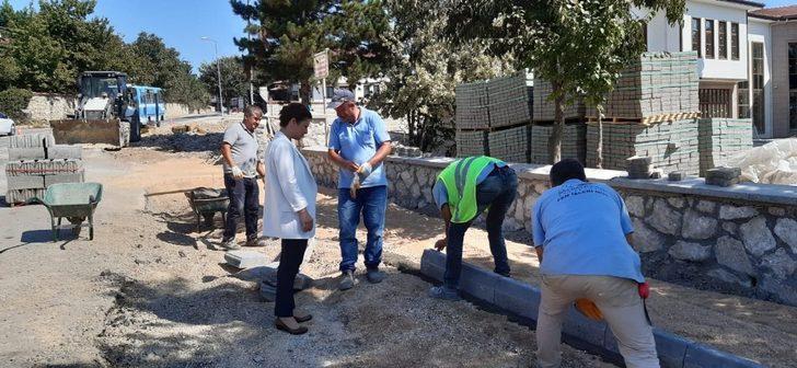 Safranbolu'da üstyapı çalışmaları