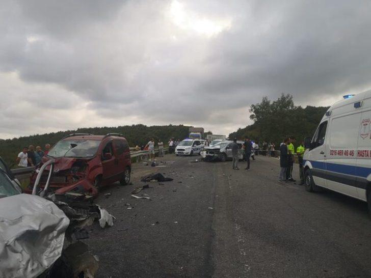 Son dakika: Kuzey Marmara Otoyolu'nda zincirleme kaza