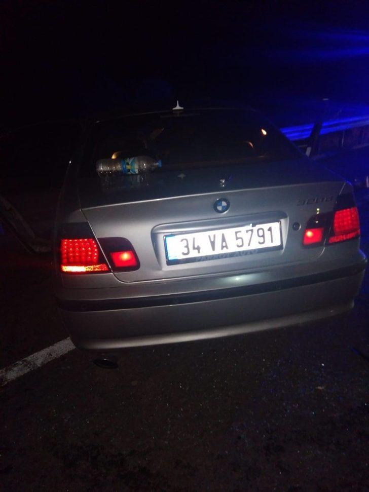 Sinop'ta tünel çıkışında kaza: 4 yaralı