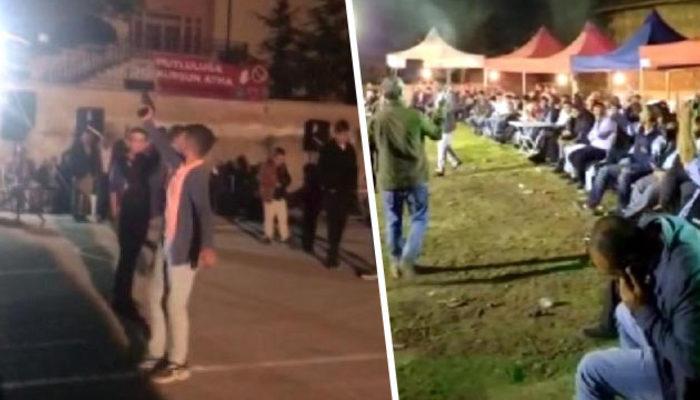Bu görüntü Ankara'dan! 2 çocuk hiç kimseye aldırmadan korku saçtı!