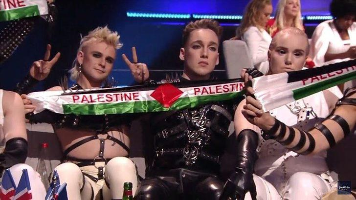 Avrupa Yayın Birliği'nden İzlanda'ya 'Filistin bayrağı' cezası