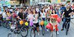 Kadınlar, sağlıklı yaşam için pedal çevirdi
