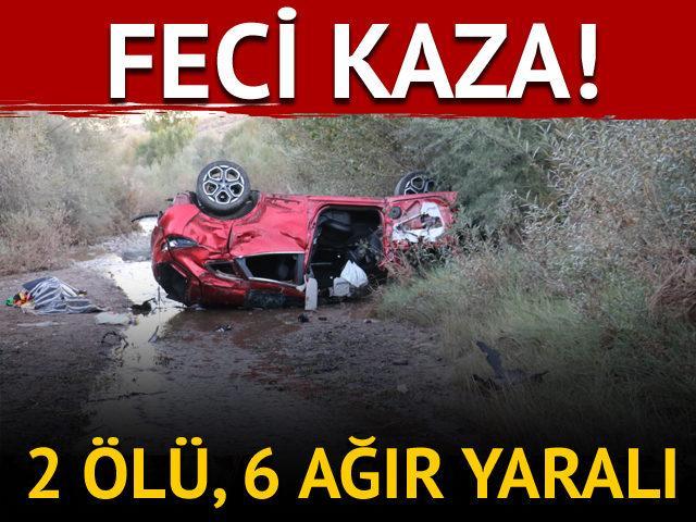 Sivas'ta trafik kazası! 2 ölü, 6 ağır yaralı