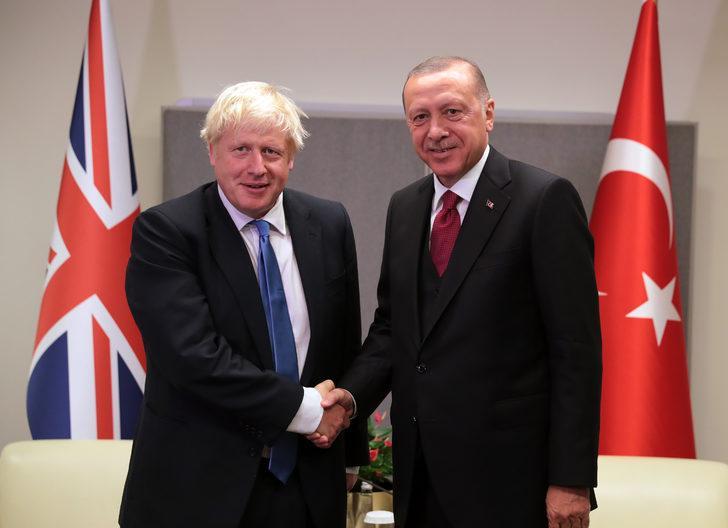 Cumhurbaşkanı Erdoğan, İngiltere Başbakanı Johnson ile görüştü