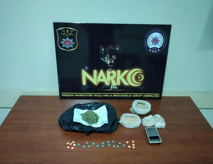 Keşan'da uyuşturucu tacirlerine operasyon: 1 tutuklama