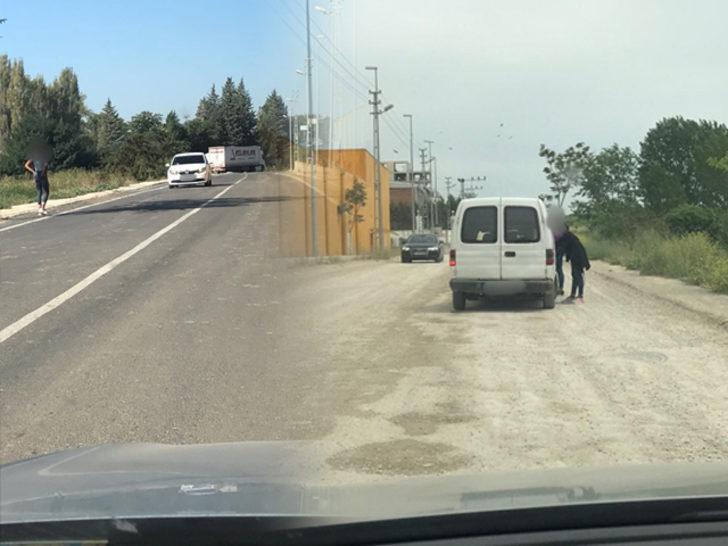 Keşan'da yol kenarlarında yapılan fuhuş pazarlığına karşı polis harekete geçti!