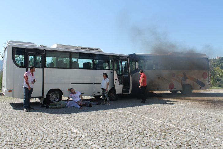 Zonguldak'ta gerçeğini aratmayan tatbikat