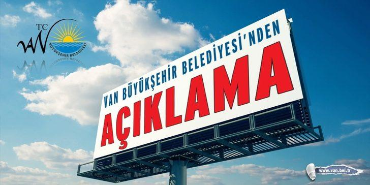 Van Büyükşehir Belediyesinden 'işçi sürgünü' açıklaması