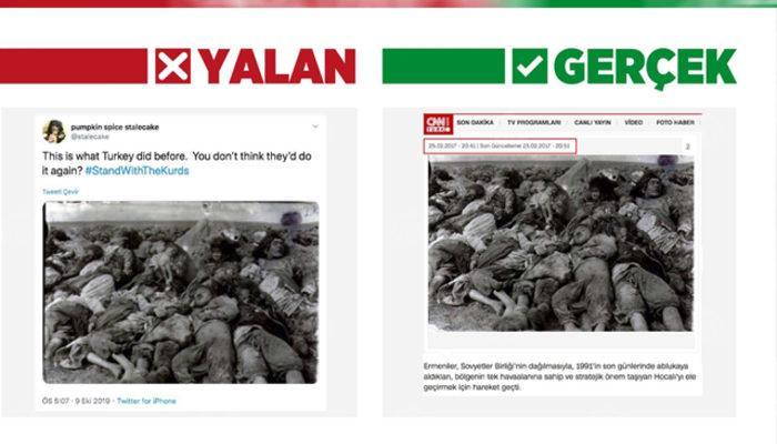 Terör örgütü yanlılarından sosyal medyada 'Barış Pınarı Harekatı' manipülasyonu
