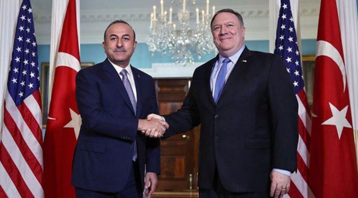 Son dakika: Dışişleri Bakanı Çavuşoğlu, ABD'li mevkidaşı Mike Pompeo ile görüştü