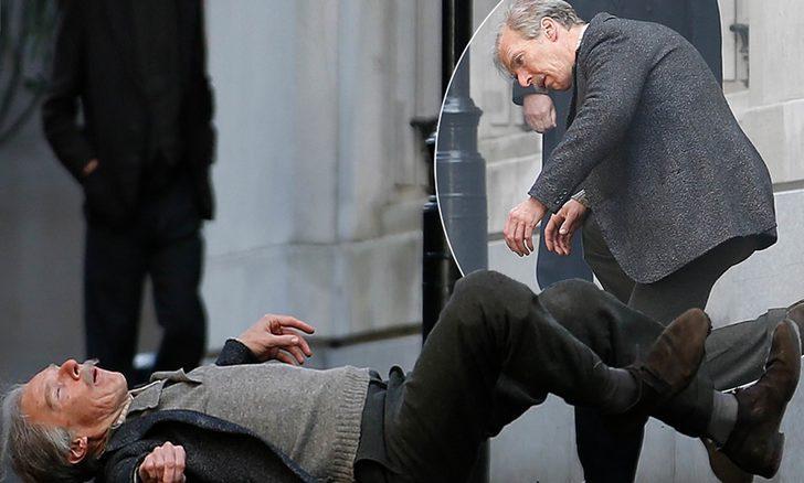 Benedict Cumberbatch yeni filminin setinde görüntülendi
