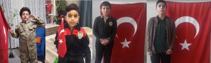 Tunceli'de çocuklardan, Mehmetçiğe videolu destek