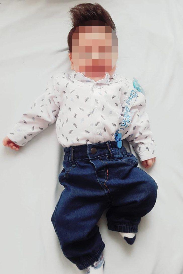 Tüfeğini temizlerken 3 aylık oğlunu yüzünden yaraladı