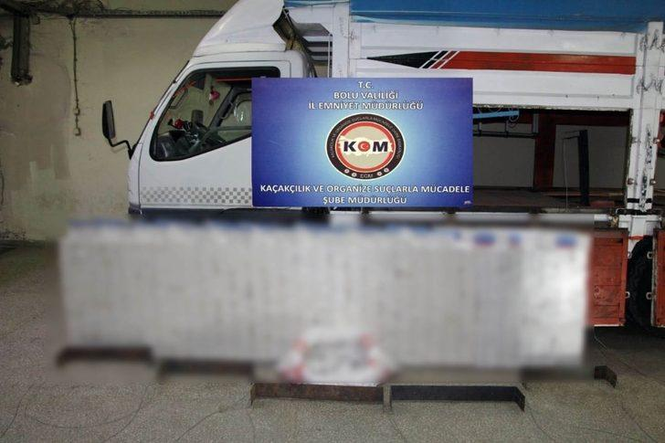 Bolu'da 10 bin 270 paket kaçak sigara ele geçirildi