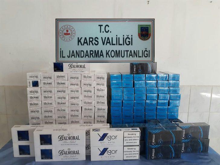 Kars'a bin 450 paket kaçak sigara yakalandı