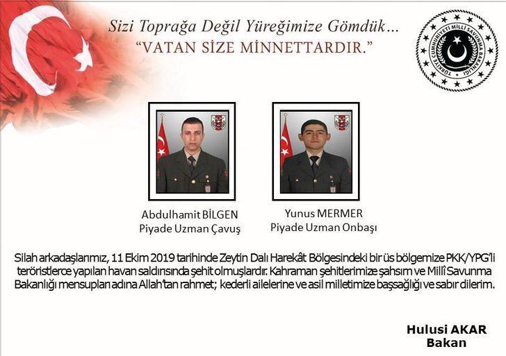 MSB: Zeytin Dalı Harekat bölgesinde 2 şehit (2)