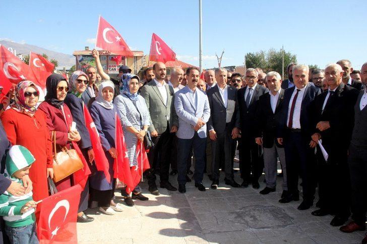 """Erzincan'da siyasi partilerden """"Barış Pınarı Harekâtına"""" destek"""