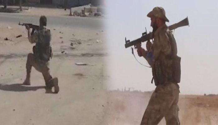 Suriye Milli Ordusu, Rasulayn'a böyle girdi! Çatışma anları kamerada