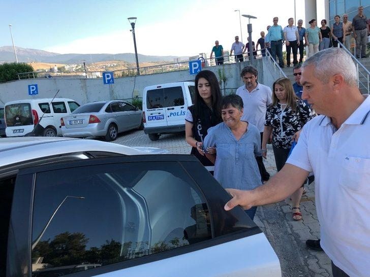 Hatay İskenderun'da HDP Eş başkanı terör örgütü propagandası suçlaması ile tutuklandı