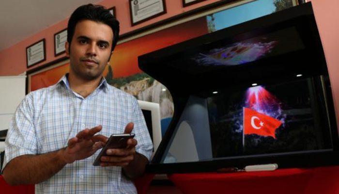 Van'da İranlı mühendis 3 boyutlu hologram cihazı üretti