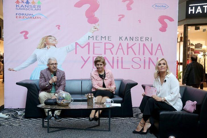 """Meme Kanseri """"Merakına Yenilsin"""" halk buluşması Erzurum'da gerçekleşti"""