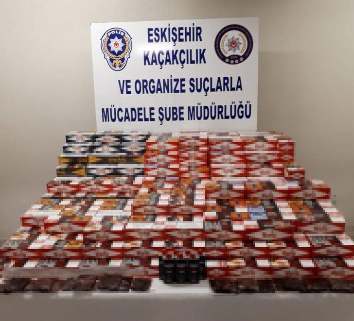 Eskişehir'de 82 bin 600 makaron ele geçirildi