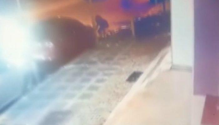Ümraniye'deki far hırsızları kamerada