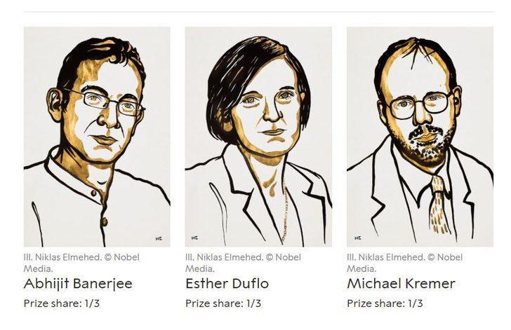 2019 Nobel Ekonomi Ödülü kazananları