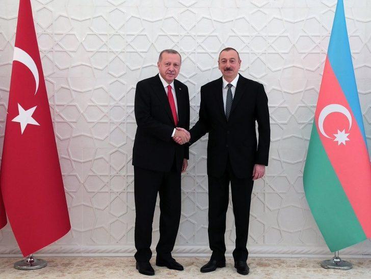 Cumhurbaşkanı Erdoğan, Azerbaycan Cumhurbaşkanı Aliyev ile görüştü