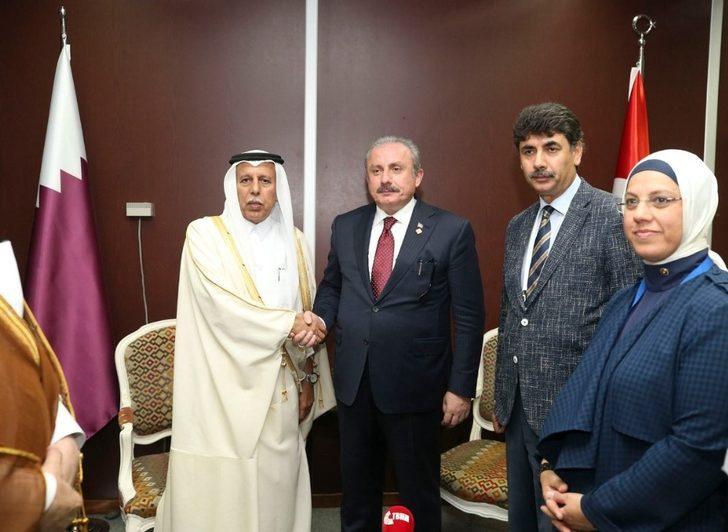 TBMM Başkanı Şentop, Katar heyeti ile görüştü