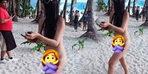 Turizm cennetinde skandal! Öyle bir bikini giydi ki...