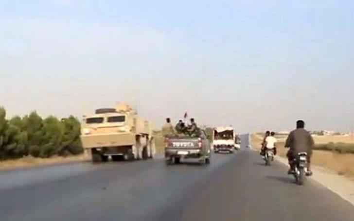 Ayn el Arab'ı terkeden ABD askerleri ile Suriye ordusu karşılaştı