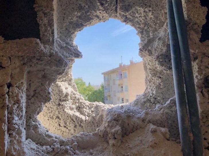 Ceylanpınar'da gazetecilerin ve doktorların kaldığı otele havan düştü