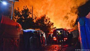 Sisam'da sığınmacılar arasında arbede