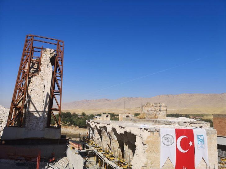 Hasankeyf'teki son eserin taşınmasına başlandı