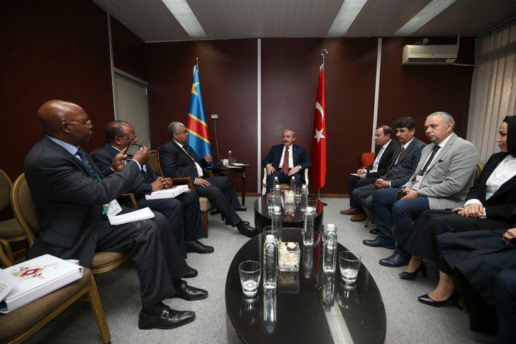 TBMM Başkanı Şentop, Kongo Meclis Başkan Vekili Ntita ile görüştü