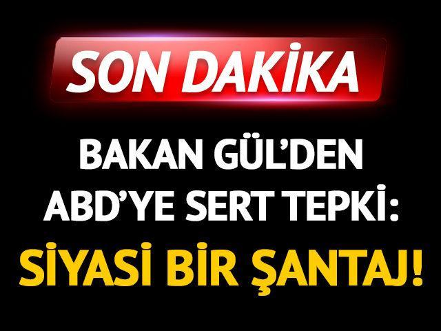 Adalet Bakanı Gül'den ABD'ye 'Halkbank' tepkisi!