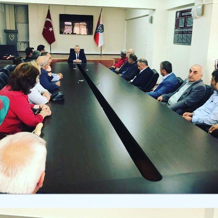 Muhtarlar, Emniyet Müdürü Akay'dan aylık periyodik toplantı talebinde bulundu