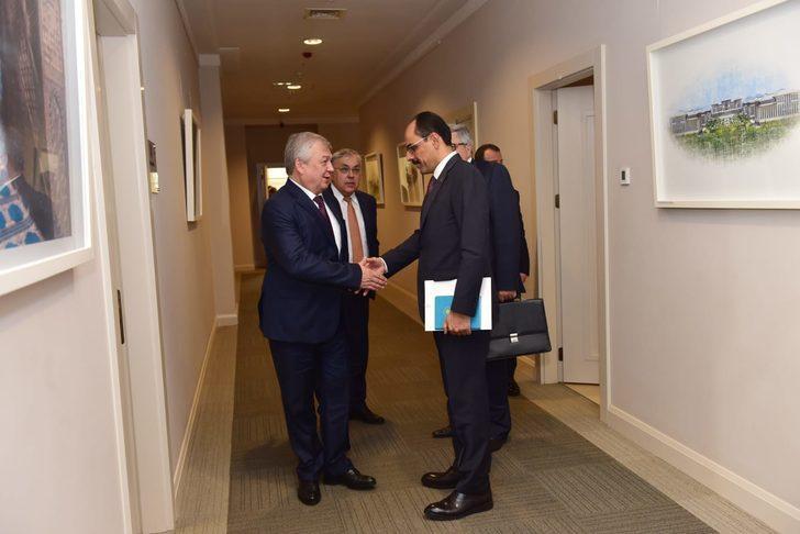 Sözcü Kalın, Rusya'nın Suriye Özel Temsilcisi ile görüştü