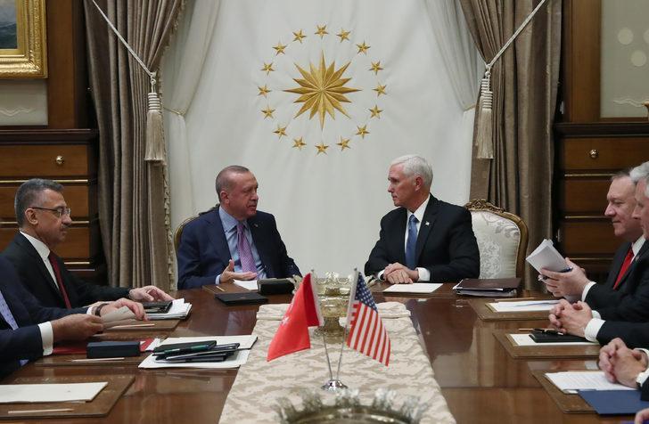 Erdoğan, ABD Başkan Yardımcısı Pence ile bir araya geldi (3)