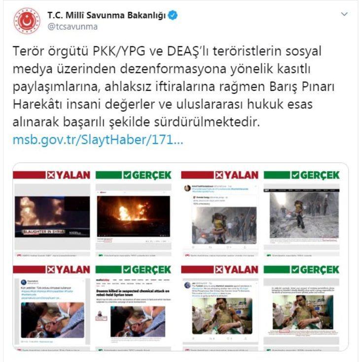 MSB'den sosyal medyada 'dezenformasyon' açıklaması