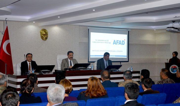 Ardahan Afet Müdahale Planı değerlendirme toplantısı düzenlendi