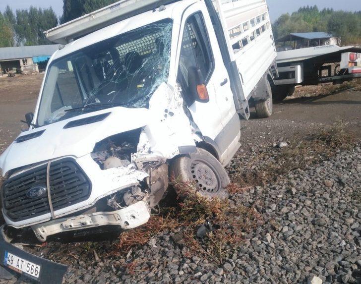 Muş'ta tren kazası: 2 yaralı