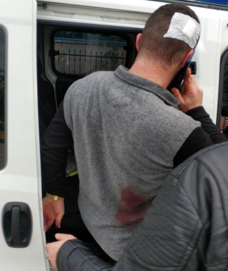 Samsun'da bir kişi bıçaklı saldırıda yaralandı