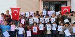 Köy çocuklarından Mehmetçiğe ebruli selam