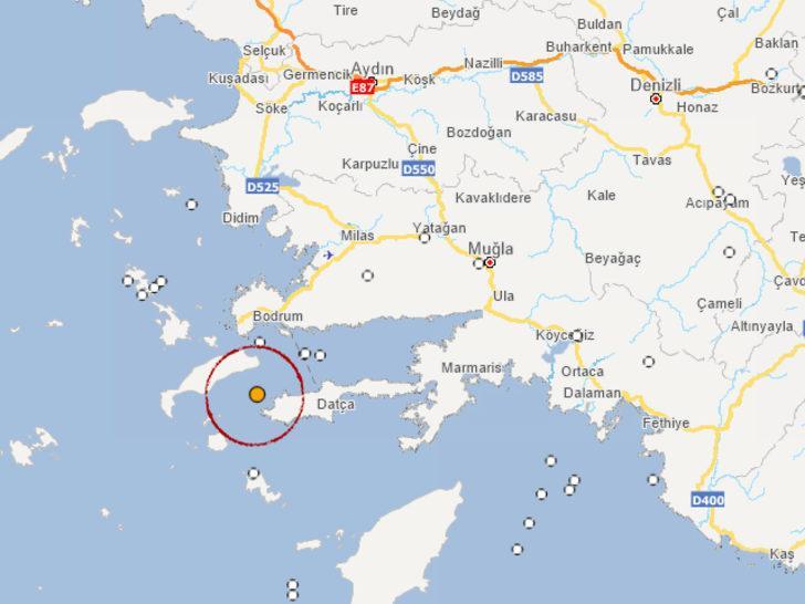 Son dakika: Ege Denizi'nde 3,5 büyüklüğünde deprem! (AFAD-Kandilli son depremler)